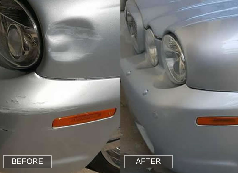 Bumper Corner Paint Spray